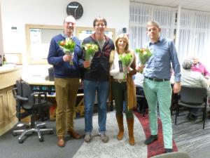 viertallenkampioen - Aad, Alex Bouwman, Jenny Cain en Fulko v. Dijk