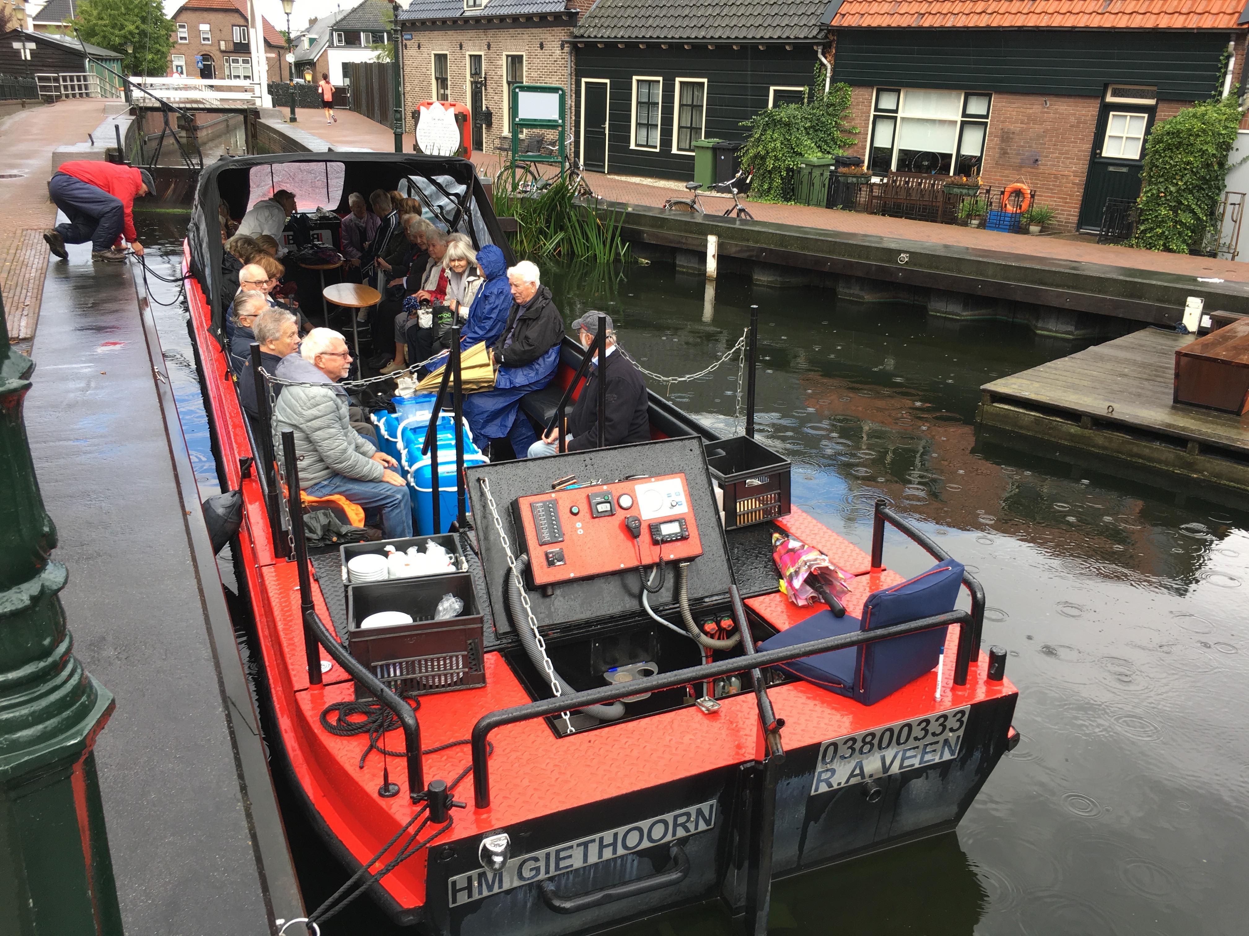 Afvaart met 'Bob on board'